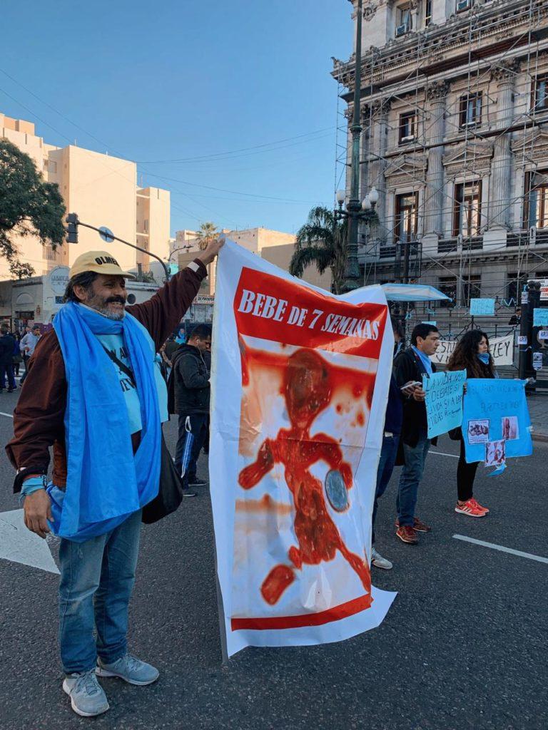 Manifestantes pro vida